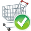 Shopping-cart-accept icon