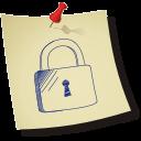 Padlock-locked icon