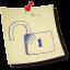 Padlock-unlocked icon