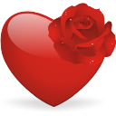 Heart-and-rose icon
