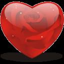 Rosy-heart icon