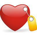 Tagged-heart icon