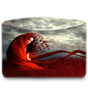Folder-Girl-Red icon