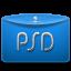 Folder-Text-Adobe-PSD icon