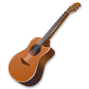 Wood-guitar icon