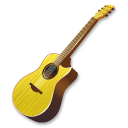 Yellow-guitar icon