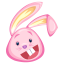 Pink-rabbit icon