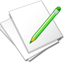 Documents-white-edit icon