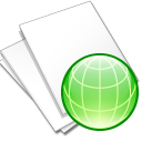 Documents-white-web icon