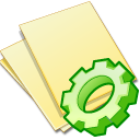 Documents-yellow-exec icon