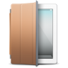 IPad-White-brown-cover icon