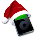 Ipod-black-santaclaus icon