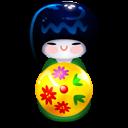 Kokeshi-green icon