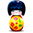 Kokeshi-red icon