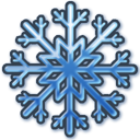 Blue-snow icon