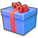 Giftbox-blue icon