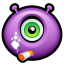 Alien-smoking icon