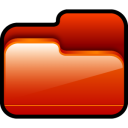 Folder-Open-Red icon