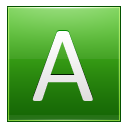 Letter-A-lg icon