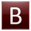 Letter-B-red icon