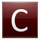 Letter-C-red icon