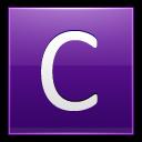 Letter-C-violet icon