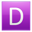 Letter-D-pink icon