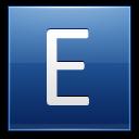 Letter-E-blue icon