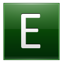 Letter-E-dg icon