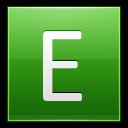 Letter-E-lg icon