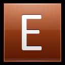 Letter-E-orange icon
