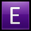 Letter-E-violet icon