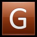 Letter-G-orange icon