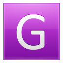 Letter-G-pink icon