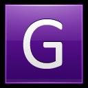 Letter-G-violet icon