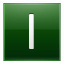 Letter-I-dg icon