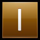 Letter-I-gold icon