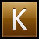 Letter-K-gold icon