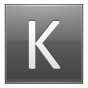 Letter-K-grey icon