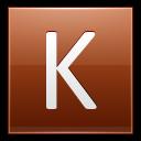 Letter-K-orange icon