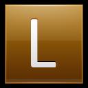 Letter-L-gold icon