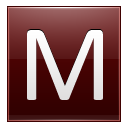 Letter-M-red icon