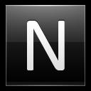 Letter-N-black icon