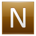 Letter-N-gold icon