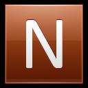 Letter-N-orange icon
