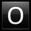 Letter-O-black icon