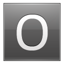 Letter-O-grey icon
