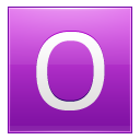 Letter-O-pink icon