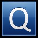 Letter-Q-blue icon