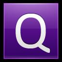 Letter-Q-violet icon